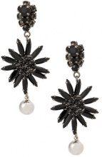 Marni - Orecchini pendenti a fiore - women - metal/glass - OS - BLACK