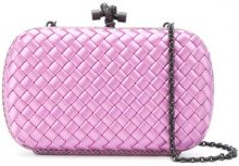 Bottega Veneta - Clutch in intrecciato - women - Viscose - OS - PINK & PURPLE