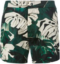 Moncler - plant print swimming trunks - men - Polyimide/Polyester - XL - MULTICOLOUR