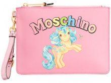 Moschino - Clutch 'My Little Pony' - women - Polyurethane - One Size - PINK & PURPLE
