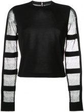 Alexander McQueen - Blusa con maniche trasparenti - women - Silk/Polyester/Viscose - L, S, M - BLACK