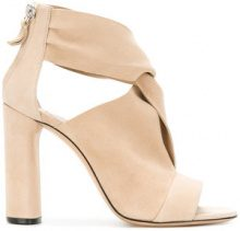 Casadei - crossover sandals - women - Chamois Leather/Leather/Kid Leather - 35, 35.5, 36, 36.5, 37, 37.5, 38, 38.5, 39, 39.5, 40, 41 - NUDE & NEUTRALS