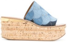 Chloé - Camille wedges - women - Calf Leather/Cotton/rubber/Polyester - 36, 37, 38, 39, 41, 36.5, 40 - BLUE