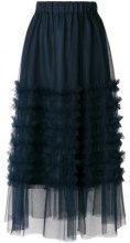 P.A.R.O.S.H. - ruffled tulle skirt - women - Polyamide/Acetate/Viscose - S, M - BLUE