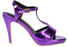 Sandali con tacco alto metallizzati