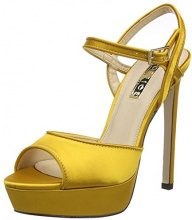 Office Hoop W, Scarpe Col Tacco con Plateau Donna, Yellow (Mustard Satin), 38 EU