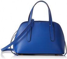 Chicca Borse 8672, Borsa a Mano Donna, Blu (Blue), 24x17x13 cm (W x H x L)