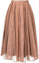 Nº21 - lace tulle midi skirt - women - Polyamide/Cotton - 38, 40, 42, 44 - PINK & PURPLE