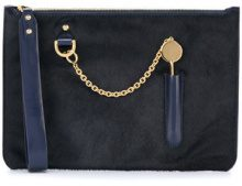 Sophie Hulme - Borsa Clutch 'Cocktail Stirrer' - women - Leather - OS - BLUE