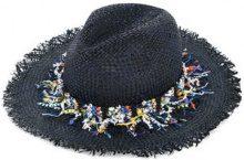 COOHEM - Cappello a tesa larga 'Coohem x CA4LA Tropical' - women - Raffia - OS - BLUE