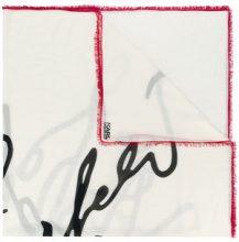 Karl Lagerfeld - Sciarpa 'K/Signature' - women - Silk/Modal - OS - WHITE