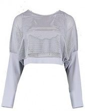 Lucy Fit Mesh Slash Neck Long Sleeve Top