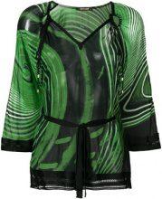 Roberto Cavalli - Blusa modello kaftano - women - Silk/Viscose - 42, 48 - Verde