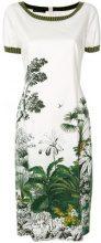 Alberta Ferretti - floral print dress - women - Cotone/other fibers/Silk/Cupro - 40, 42, 46 - Bianco