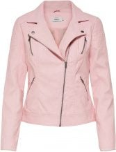 ONLY Biker Faux Leather Jacket Women Pastel