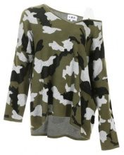 Pullover a maglia camouflage