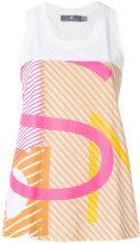 Adidas By Stella Mccartney - logo tank top - women - Cotton - XS, S, M - WHITE
