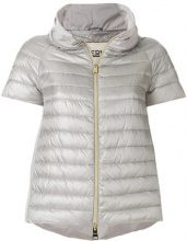 - Herno - cropped down jacket - women - Polyamide/Feather Down/Polyester - 38 - di colore grigio