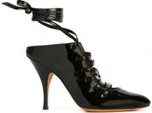 Givenchy - lace up mules - women - Patent Leather/Leather - 36, 39, 39.5, 40 - BLACK