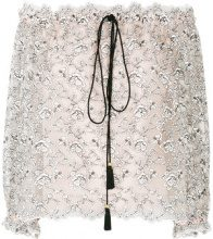 Philosophy Di Lorenzo Serafini - lace off-shoulder blouse - women - Polyester - 46, 48, 42, 44 - NUDE & NEUTRALS