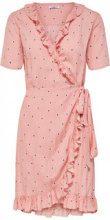 ONLY Wrap Short Sleeved Dress Women Pink
