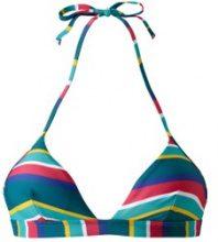 Reggiseno per bikini modello a triangolo a righe