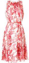 Max Mara - floral print georgette dress - women - Silk/Polyamide/Acetate - 44 - RED