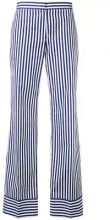 MSGM - striped straight trousers - women - Cotton - 40, 42, 44 - BLUE