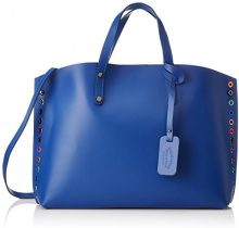 Chicca Borse 8678, Borsa a Spalla Donna, Blu (Blue), 46x30x13 cm (W x H x L)