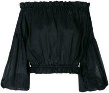 Vivienne Westwood Anglomania - Blusa con spalle scoperte - women - Vegetable Fibres - M/L, S, M - BLACK