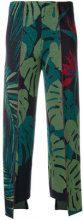 Circus Hotel - Pantaloni con foglie stampate - women - Viscose/Polyester - 40, 42 - GREEN