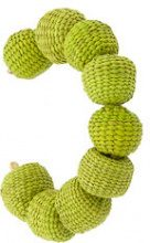 Carolina Herrera - raffia beads bracelet - women - Bronze/Raffia - OS - GREEN