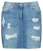 Paislee minigonna in denim effetto consumato