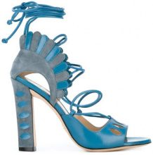 Paula Cademartori - Lotus sandals - women - Goat Skin/Calf Suede/Leather - 36, 37.5, 38, 39.5 - BLUE