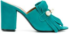 Via Roma 15 - Sandali con frange - women - Leather/Suede - 36, 37, 38, 40 - BLUE