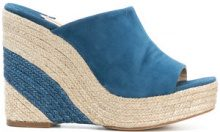 Paloma Barceló - Mules con zeppa 'Mamey' - women - Leather/Suede - 37, 38, 40, 41 - BLUE
