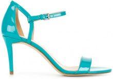 Michael Michael Kors - heeled open-toe sandals - women - Leather/Polyurethane - 6, 7.5, 8, 8.5, 9, 10 - BLUE
