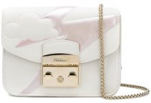 Furla - Borsa a tracolla 'Metropolis Fantasia' - women - Leather/Nylon/Viscose - One Size - WHITE