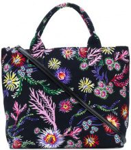 Pinko - Borsa tote con stampa a fiori - women - Cotton - OS - BLACK