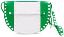 Valentino - VLTN Valentino Garavani Free Rockstud clutch - women - Leather - OS - GREEN
