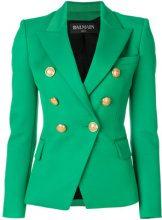 Balmain - double breasted jacket - women - Cotone/Viscose/Wool - 38, 40, 36, 42 - GREEN