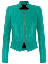 Tufi Duek - leather jacket - women - Acetate/Leather - 36, 42 - GREEN