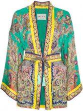 Etro - Kimono con stampa cashmere - women - Silk/Viscose - 42, 44, 40, 46 - GREEN