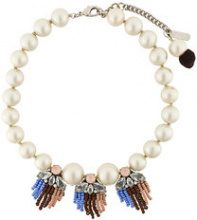 Radà - Collana con frange - women - plastic/metal/glass - OS - WHITE