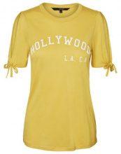 VERO MODA Statement T-shirt Women Yellow