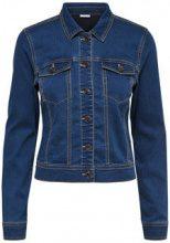 ONLY Short Denim Jacket Women Blue
