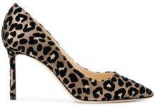 Jimmy Choo - Romy leopard print pumps - women - Leather/Velvet/Satin - 38, 39, 35, 35.5, 36, 36.5, 37.5, 38.5, 40 - NUDE & NEUTRALS