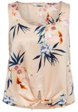 ONLY Printed Sleeveless Top Women Beige