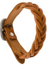Il Bisonte - braided bracelet - women - Leather - OS - BROWN