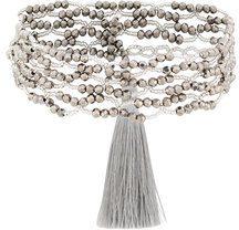 - Night Market - Collana doppia con perline - women - ottone - Taglia Unica - di colore grigio